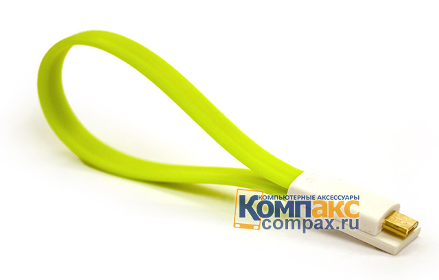 PDA Кабель VOJO Magnet MicroUSB Cable Green (VMMCG)